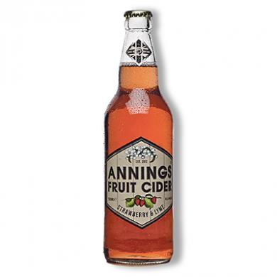 Annings Cider - Strawberry & Lyme (500ml) 4% ABV