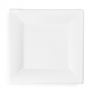 Bio Compostable Bagasse Square Plate - 10 inch (Pack of 50)