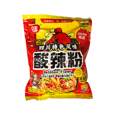 Baijia - Hot and Sour Flavour Instant Vermicelli (105g)