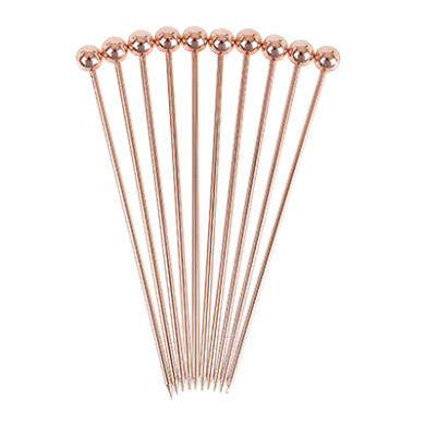 Ball Garnish Picks (Copper-plated) - Pack of 10