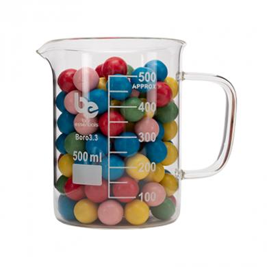 Beaker With Handle - Bar Essentials (Borosilicate Glass) 500