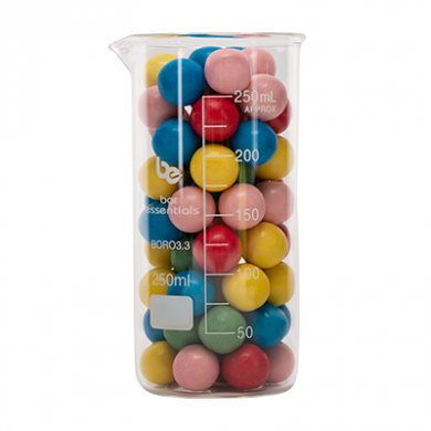 TALL Beaker - Bar Essentials (Borosilicate Glass) 250ml