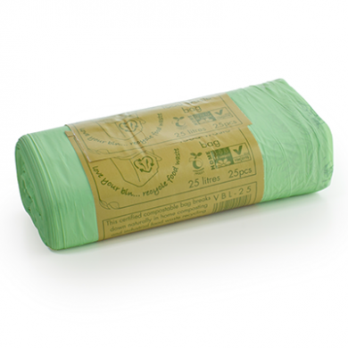 Compostable Green Biobags - 25 Litre (Roll of 25)
