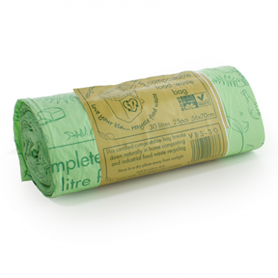 Compostable Green Biobags - 30 Litre (Roll of 25)