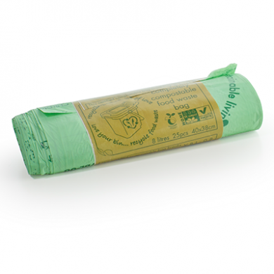 Compostable Green Biobags - 8 Litre (Roll of 25)