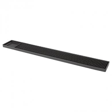 Black Rubber Bar Mat (610mm x 80mm)