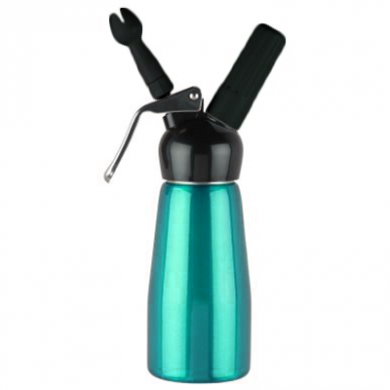 Cream Whipper - 0.25 Litre (Black Head) - NEW Turquoise