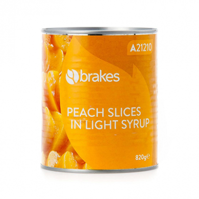 Peach Slices in Light Syrup (820g) - Brakes