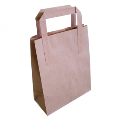 Brown Paper Carrier Bags - Medium (20 x 25.5 x 11.5cm) Pack