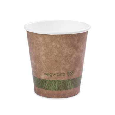 Bio Compostable Brown Single Wall Hot CUPS 10oz (89mm Rim) P
