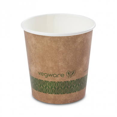 Bio Compostable Brown Single Wall Hot CUPS 4oz (62mm Rim) Pk