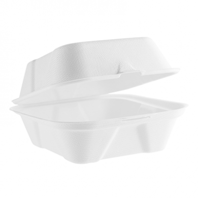 Bio Compostable Burger Box - 6-inch (Pack of 50)