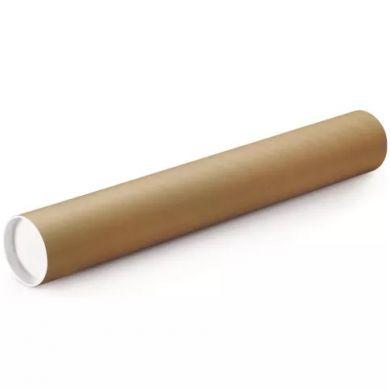 Cardboard Tube with End Caps (787mm x 76mm x 2.5mm) - Long