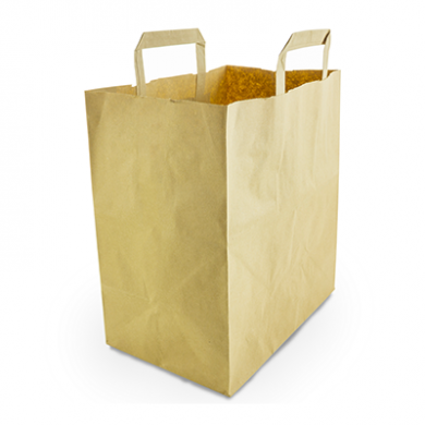 Recycled Brown Paper Carrier Bags - Large (Pack of 25)
