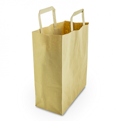 Recycled Brown Paper Carrier Bags - Medium (Pack of 25)