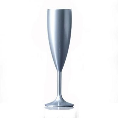 Polycarbonate - Silver Champagne Flute (187ml) - Not CE