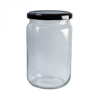 Clear Glass Jar (720ml) w/ Gold Twist-Off Lid