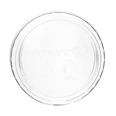 Bio Compostable Portion Pot LIDS (70mm Rim) Fits 2-4oz (Pack