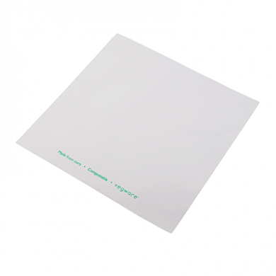Bio Compostable Bag - Clear Front/White Back (190 x 190mm) x