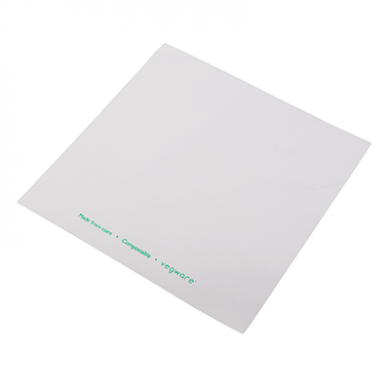 Bio Compostable Bag - Clear Front/White Back (260 x 260mm) x