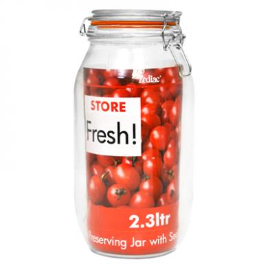 Cliptop Glass Preserving Jar - 255mm (2.3 Litre)
