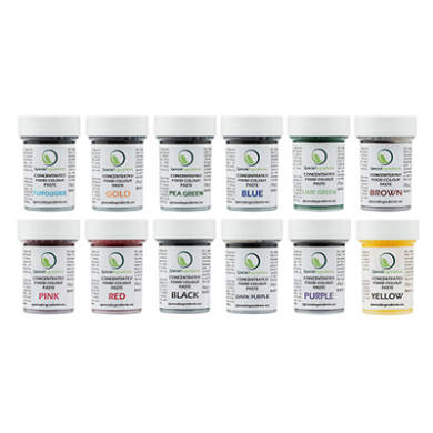 Concentrated Food Colour Pastes - Value Pack (12 x 25g)