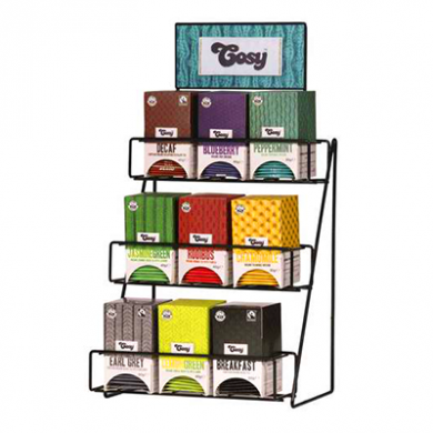 Cosy Tea Display Rack (Black Metal)