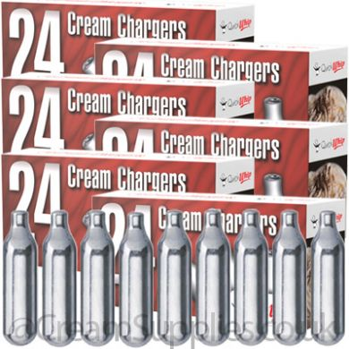 Cream Chargers -  6 Boxes of Quick Whip N2O (144 Chargers)