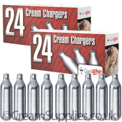 48 Cream Chargers - Quick Whip N2O (2 Boxes)