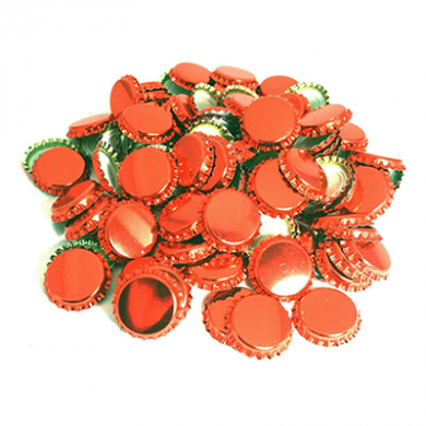 Metal Crown 26mm Bottle Caps - COPPER (Pack of 10)