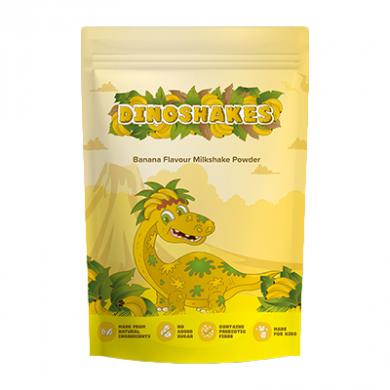 Dinoshakes Vegan Healthy Thick Milkshake (1kg) - Banana
