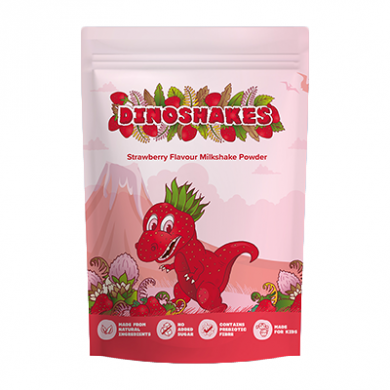 Dinoshakes Vegan Healthy Thick Milkshake (1kg) - Strawberry
