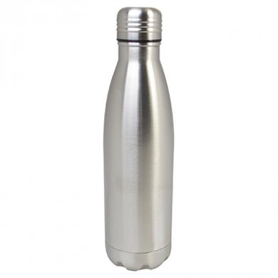 Double-Walled Water Bottle - SILVER (520ml)