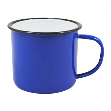 Enamel Mug - BLUE (18oz/520ml) 90mm Rim LARGE