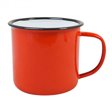 Enamel Mug - RED (18oz/520ml) LARGE