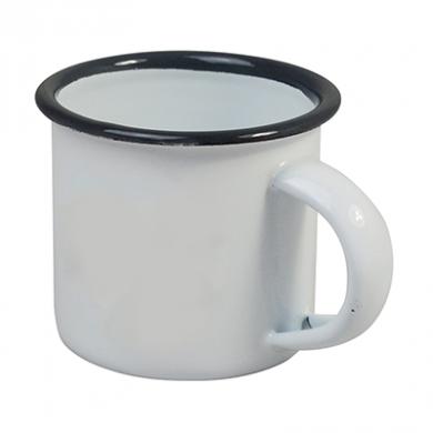 Enamel Espresso Mini Cup (100ml) - GREY Rim