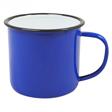 Enamel Mug - BLUE (13oz/360ml) 80mm Rim Medium