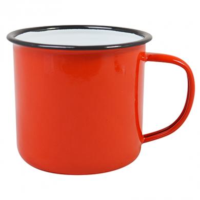 Enamel Mug - RED (13oz/360ml) 80mm Rim Medium