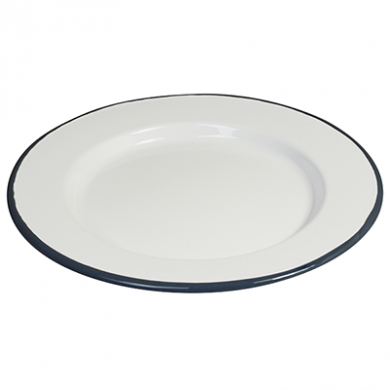 Enamel Round Plate (210mm) - GREY Rim
