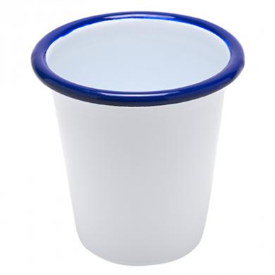 Enamel Tumbler Beaker (9oz) - BLUE Rim