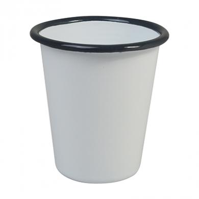 Enamel Tumbler Beaker (260ml) - GREY Rim