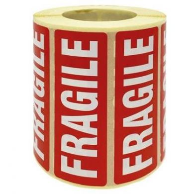 Fragile Labels (89mm x 32mm) - Roll of 1000 - Not Eco