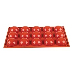 Silicone Hemisphere Ice and Cake Mould (Tray of 15)