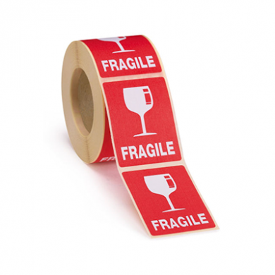 Fragile Labels (89mm x 32mm) - Roll of 2000
