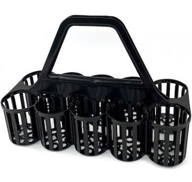 Glass Carrier (10 Pockets) - Black