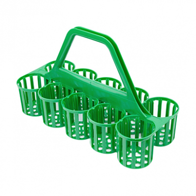 Glass Carrier Green (10 Pockets)