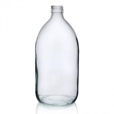 Glass Sirop Bottle (1000ml) - Clear