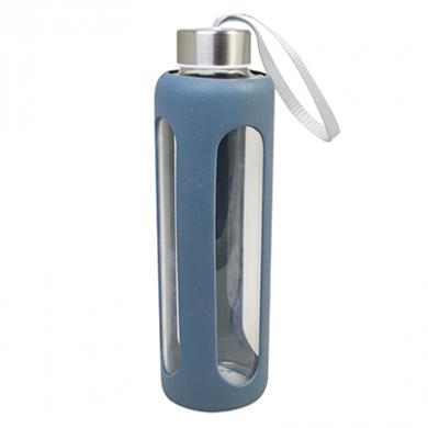 Glass Water Bottle (600ml) - GREY