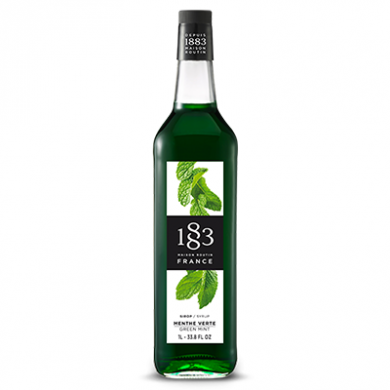 Routin 1883 Syrup - Green Mint (1 Litre) - Glass Bottle