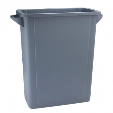 Grey Slim Recycling Bin With Handles (65 Litre) - BASE ONLY